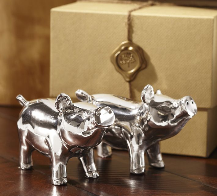 Pottery Barn Piggies Salt & Pepper Gift Set