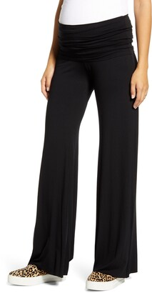 Maternal America Flare Leg Knit Maternity Pants