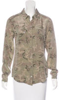 Equipment Camouflage Button-Up Top
