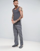 Jack Wills Blakebrook Grey Check Lounge Pants