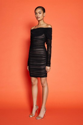 Coast Long Sleeve Mesh Bandage Short Dress
