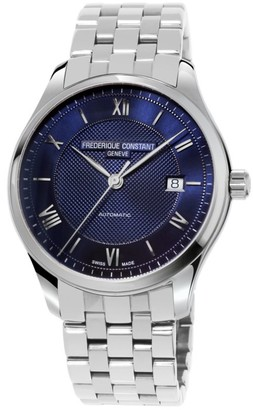 Frederique Constant Classics Index Silvertone Automatic Watch