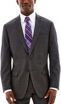 Claiborne Charcoal Herringbone Stretch Suit Jacket - Classic Fit