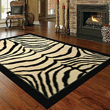 JCPenney Mohawk Home Zebra Safari Rectangular Rug