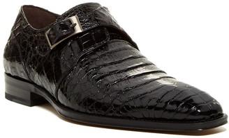 Mezlan Gables Leather & Genuine Crocodile Monk Strap Loafer