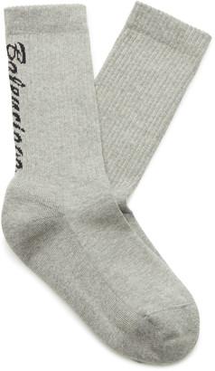 Balenciaga Intarsia Cotton-Blend Socks