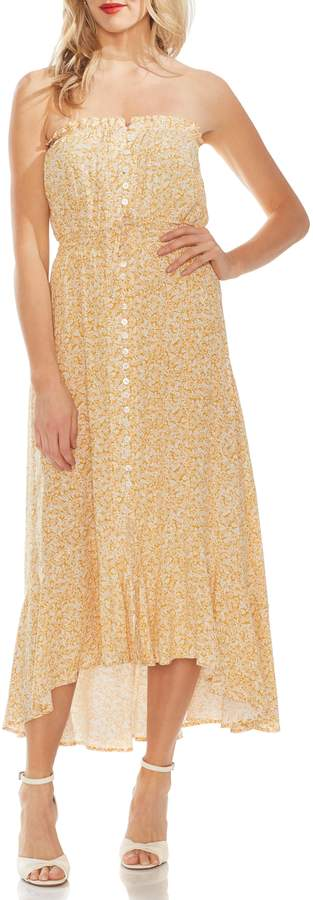 Vince Camuto Strapless High/Low Dress