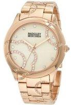 Badgley Mischka Women's BA/1200CMRG Swarovski Crystals Accented Rosegold-Tone Bracelet Watch