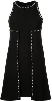 Proenza Schouler Studded Textured Crepe Dress