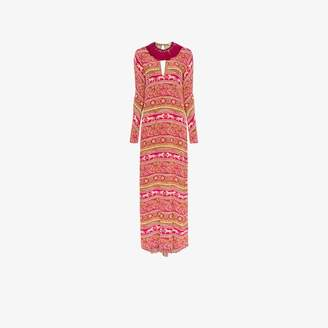 Johanna Ortiz bohemian rhapsody silk maxi dress