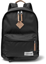 Eastpak Out Of Office Leather-trimmed Canvas Backpack - Black