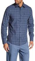 Original Penguin Plaid Spread Collar Shirt