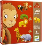 Djeco Marmoset & Friends Giant Puzzles (19 pc)