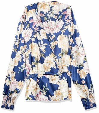 Forever 21 Women's Plus Size Floral Satin Top