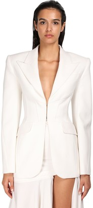 Thierry Mugler Wool Twill Corset Jacket