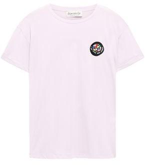 Être Cécile Oversized Appliqued Printed Cotton-jersey T-shirt
