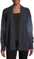 Agnona 3-Button Shaded Mohair and Cashmere Cardigan