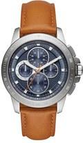 MICHAEL Michael Kors 'Ryker' Chronograph Leather Strap Watch, 43Mm
