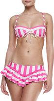 Juicy Couture Boho Striped Skirted Swim Bottom