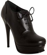 Yves Saint Laurent black leather 'Tribute 105' lace-up bootie