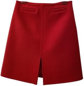 Courreges Red Wool Skirt for Women