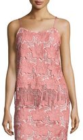 Alice + Olivia Waverly Floral Lace Camisole, Pink/White