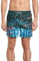 Ted Baker Men's Mindoe Flamingo Print Swim Trunks