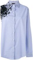 Filles a papa Crash embellished asymmetric shirt - women - Cotton - 1