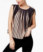Catherine Malandrino Striped Pleated Top