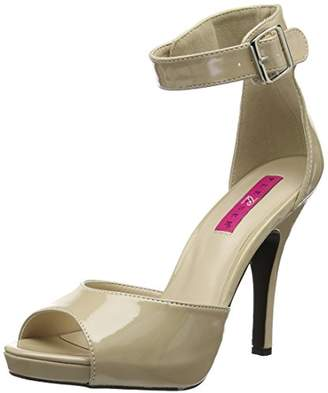 Pink Label Pleaser Women's Eve02/Cr Platform Dress Sandal