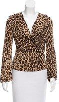 Celine Leopard Print Long Sleeve Top