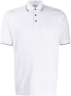 Ermenegildo Zegna Contrast Trim Polo Shirt