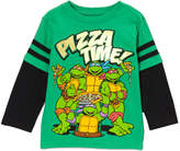 Children's Apparel Network Green TMNT 'Pizza Time' Layered Tee - Toddler