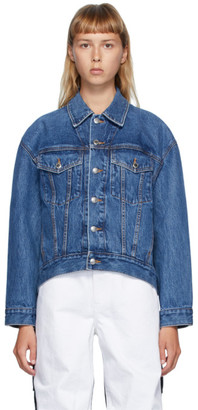 Alexander Wang Blue Denim Falling Back Jacket