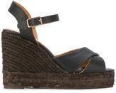 Castaner classic wedge sandals - women - Raffia/Leather/rubber - 35