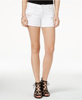 Hudson Croxley Ripped White Wash Denim Shorts