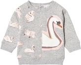 Stella McCartney Grey Swan Print Sweatshirt