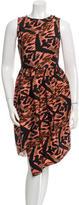 Proenza Schouler Silk Asymmetrical Sleeveless Dress