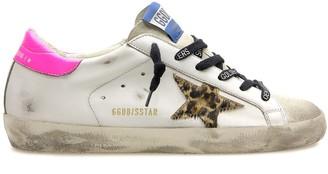 Golden Goose Superstar Sneaker in Ice/White/Brown Leo/Fuchsia Fluo