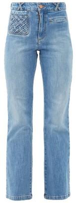 See by Chloe Braided-pocket Kick-flare Jeans - Denim
