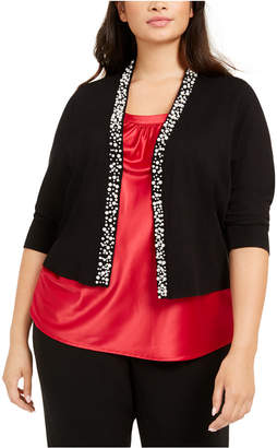 Calvin Klein Plus Size Embellished Shrug