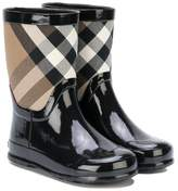 Burberry checkered rain boots