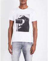 Replay Monkey-print Cotton-jersey T-shirt