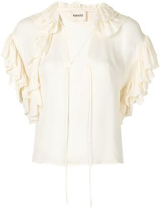 KHAITE The Dee ruffled blouse
