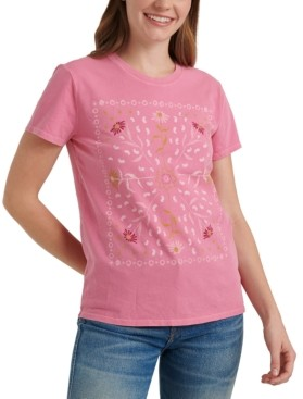 Lucky Brand Framed Bandana Graphic T-Shirt