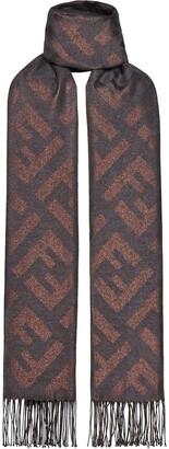 Fendi FF print fringed scarf