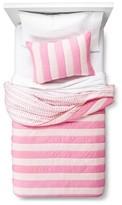 Nobrand No Brand Reversible Stripe to Dot Quilt Set