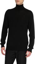 Givenchy Men's Bonded Tape Turtleneck Sweater