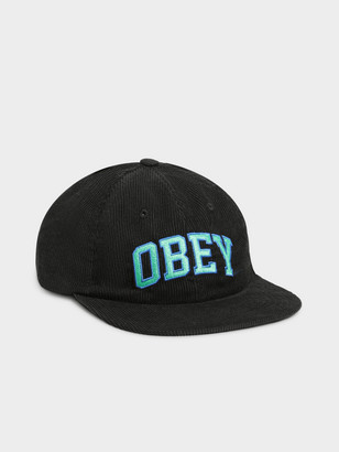 Obey DTP 6 Panel Strapback Cap in Black