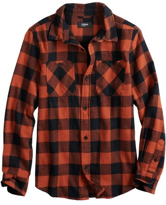 Urban Pipeline Boys 8-20 & Husky Flannel Button-Front Top